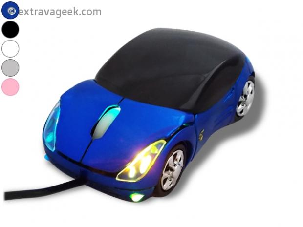 souris usb pour ordinateur en forme de voiture extravageek blog objets geek cadeaux. Black Bedroom Furniture Sets. Home Design Ideas
